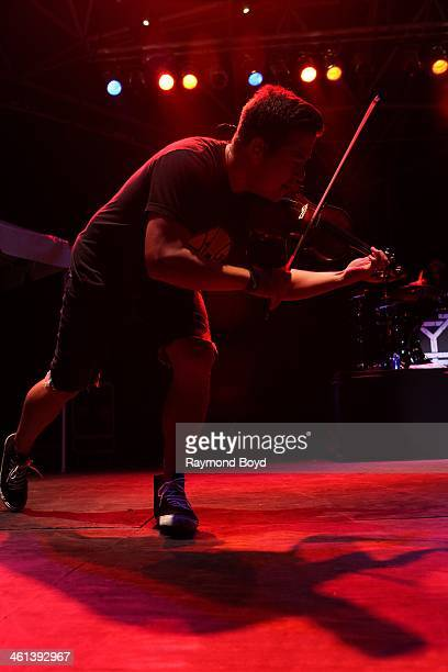 Sean Mackin from Jacksonville Florida alternative rock band Yellowcard performs on the US Cellular Connection Stage at the Henry W Maier Festival...