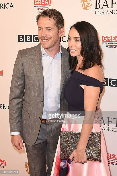 Sean Maguire and Tanya Flynn attend the BBC America BAFTA Los Angeles TV Tea Party at Boxwood Restaurant at The London West Hollywood on September 17...