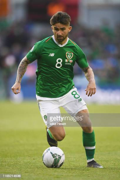 Sean Maguire of Ireland in action during the UEFA Euro 2020 Qualifying Group D match between Ireland and Gibraltar at Aviva Stadium on June 10 2019...