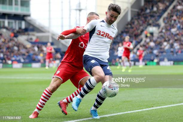 Sean Maguire of Preston North End during the Sky Bet Championship match between Preston North End and Barnsley at Deepdale on October 05 2019 in...