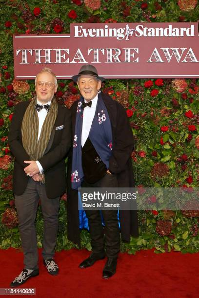 Sean Mathias and Sir Ian McKellen attend 65th Evening Standard theatre Awards in association with Michael Kors at the London Coliseum on November 24,...