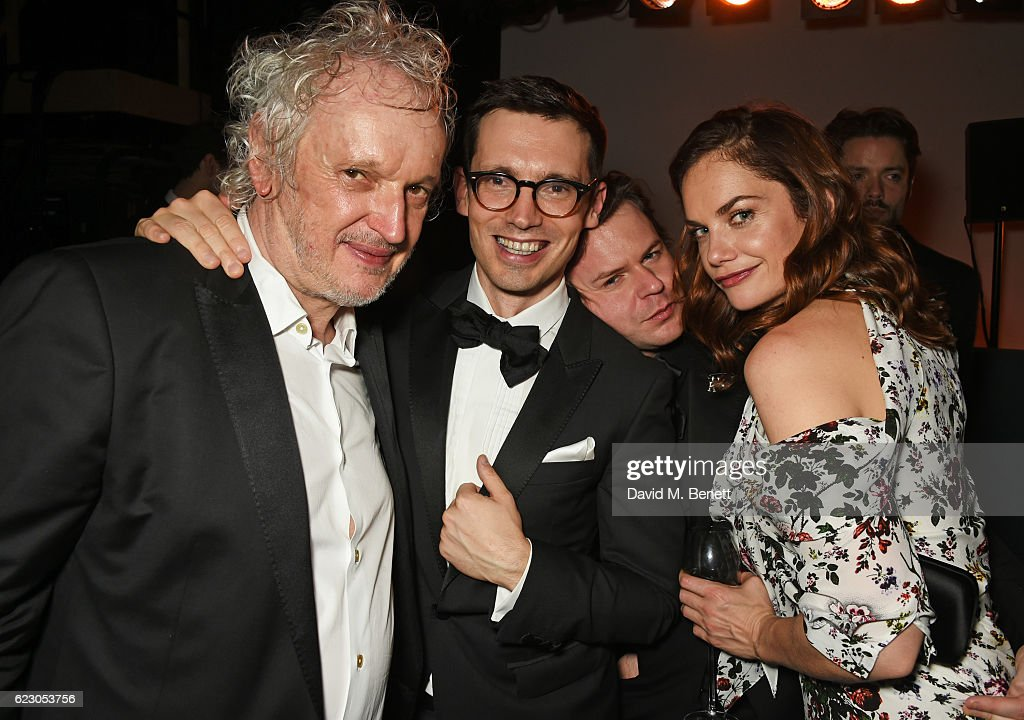 Sean Mathias, Erdem Moralioglu, Christopher Kane and Ruth Wilson attend The 62nd London Evening Standard Theatre Awards after party, recognising excellence from across the world of theatre and beyond, at The Old Vic Theatre on November 13, 2016 in London, England.