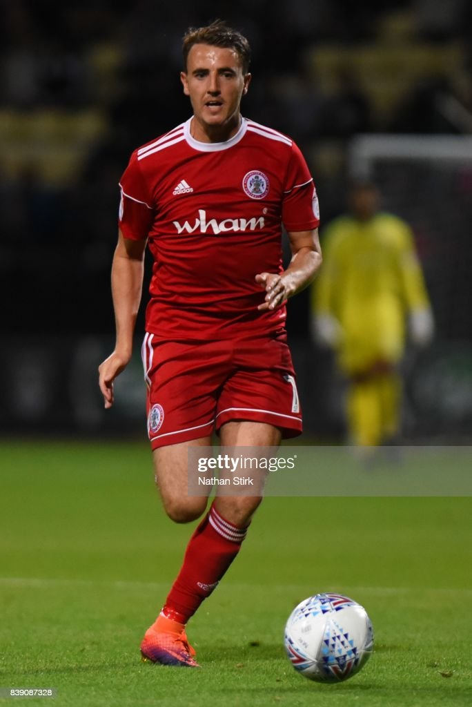 Sean McConville of Accrington Stanley in action during the Sky Bet League Two match between Notts County and Accrington Stanley at Meadow Lane on August 25, 2017 in Nottingham, England.