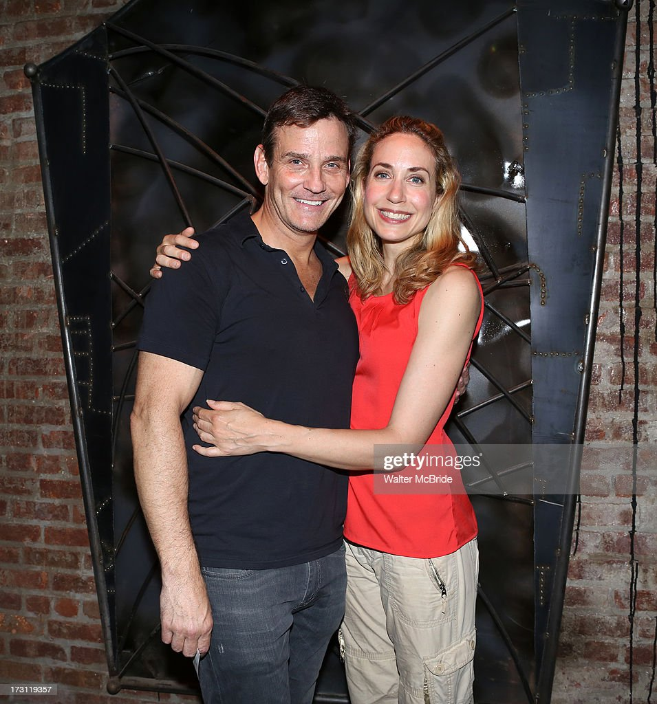Sean McDermott and Laura Jordan attend the closing night party for 'Silence! The Musical' at Elektra Theatre on July 7, 2013 in New York City.