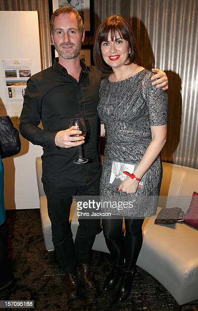 Sean McGuiness and Amanda Lamb attend the Tusk Trust 'Art for Life' Modern Art Auction at the Hippodrome on November 28, 2012 in London, England. The...