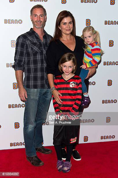 Sean Mcguinness and Amanda Lamb attends launch of Beano.com at Ambika P3 on September 25, 2016 in London, England.