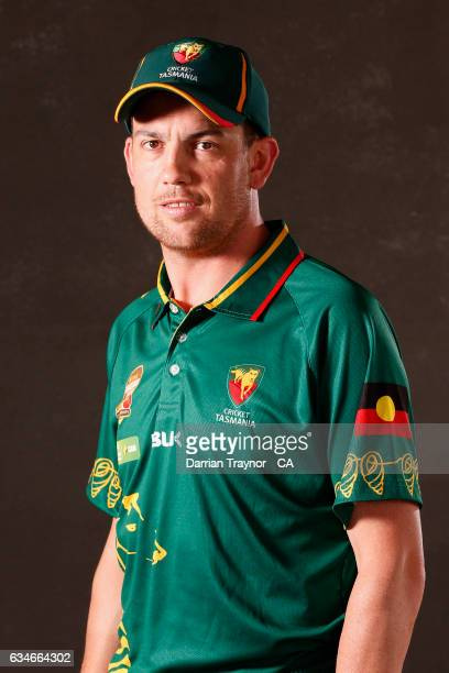 Sean McGuire of Tasmania poses for a head shot during the National Indigenous Cricket Championships on February 11 2017 in Alice Springs Australia