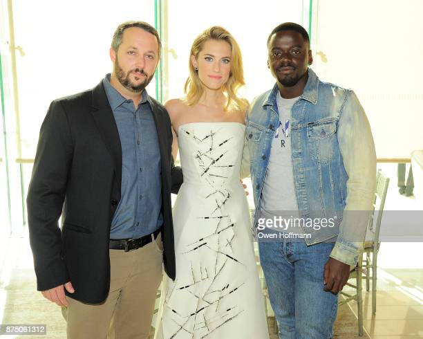 Sean McKittrick Allison Williams and Daniel Kaluuya attend Universal Pictures' 'Get Out' Peggy Siegel Luncheon at Lincoln Ristorante on November 15...