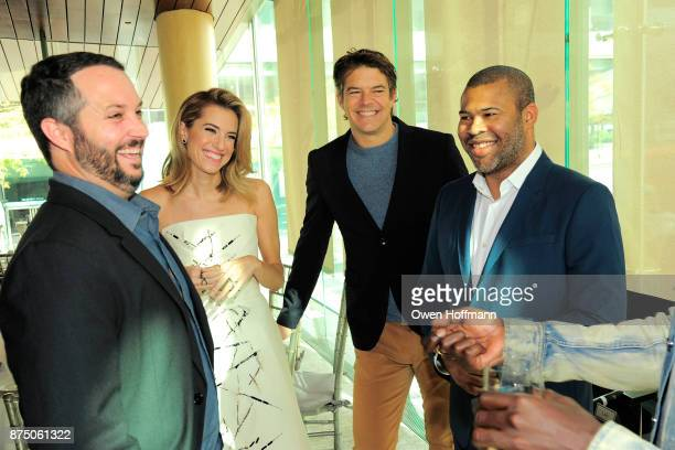 Sean McKittrick Allison Williams Jason Blum and Jordan Peele attend Universal Pictures' 'Get Out' Peggy Siegel Luncheon at Lincoln Ristorante on...