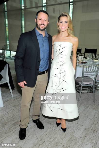 """Sean McKittrick and Allison Williams attend Universal Pictures' """"Get Out"""" Peggy Siegel Luncheon at Lincoln Ristorante on November 15, 2017 in New..."""