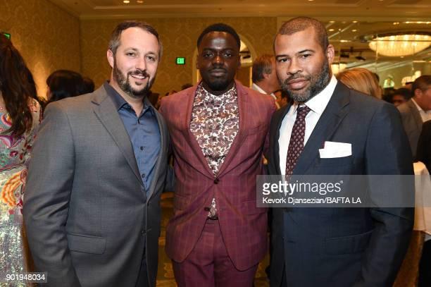 Sean McKittrick Daniel Kaluuya and Jordan Peele attend The BAFTA Los Angeles Tea Party at Four Seasons Hotel Los Angeles at Beverly Hills on January...