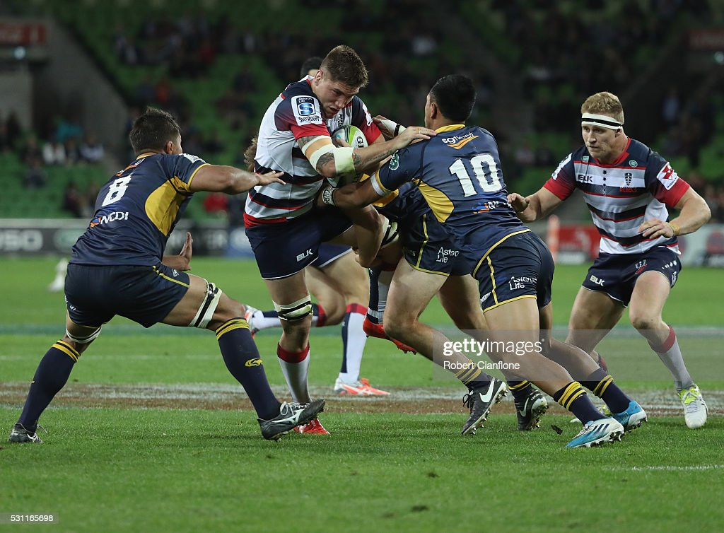 Super Rugby Rd 12 - Rebels v Brumbies : News Photo