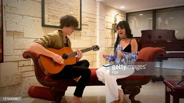 Sean Mendes and Camila Cabello perform during the FOX PRESENTS THE IHEART LIVING ROOM CONCERT FOR AMERICA a music event to provide entertainment...