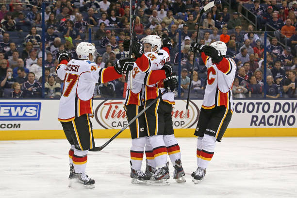 Calgary Flames v Columbus Blue Jackets