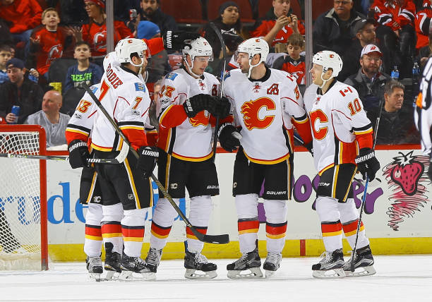 93c011609 Calgary Flames v New Jersey Devils Photos and Images