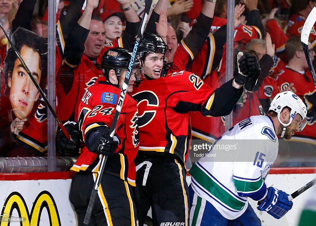 Vancouver Canucks v Calgary Flames - Game Six : News Photo