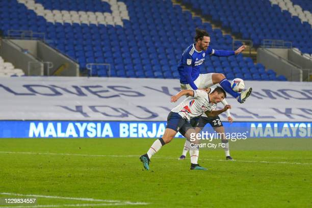 Sean Morrison of Cardiff City FC during the Sky Bet Championship match between Cardiff City and Luton Town at Cardiff City Stadium on November 28,...
