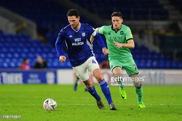 Sean Morrison of Cardiff City in action during the FA Cup third round match between Cardiff City and Carlisle United at the Cardiff City Stadium on...