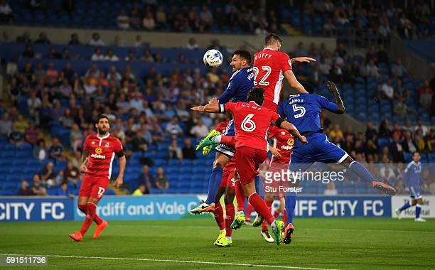 Sean Morrison of Cardiff heads the second Cardiff goal during the Sky Bet Championship match between Cardiff City and Blackburn Rovers at Cardiff...