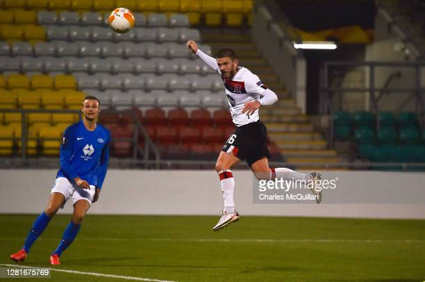 Sean Murray of Dundalk FC scores his sides first goal during the UEFA Europa League Group B stage match between Dundalk FC and Molde FK at Aviva...