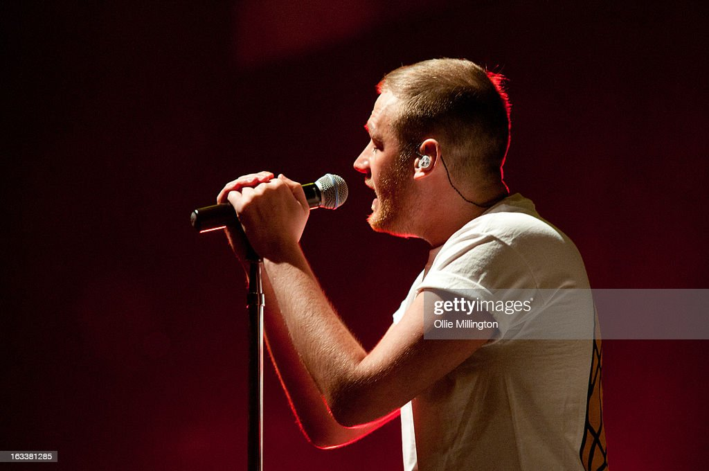 Sean 'Neddy' Arkins of The Original Rudeboys performs on stage in concert on the opening night of their first UK tour supporting The Script on their March 2013 UK Tour during the #3 World Tour at Nottingham Capital FM Arena on March 8, 2013 in Nottingham, England.