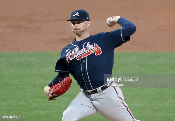 Sean Newcomb of the Atlanta Braves in action against the New York Mets at Citi Field on July 26, 2020 in New York City. The 2020 season had been...