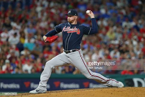 Sean Newcomb of the Atlanta Braves makes his major league debut during a game against the Philadelphia Phillies at Citizens Bank Park on July 26,...