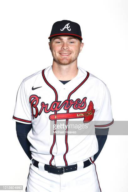 Sean Newcomb of the Atlanta Braves poses for a photo during Photo Day at CoolToday Park on February 20, 2020 in Venice, Florida.