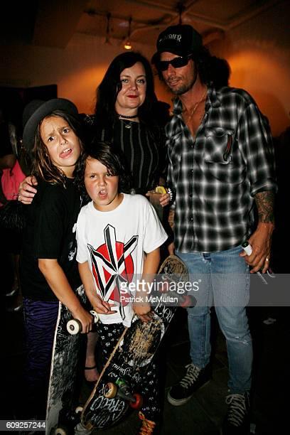 Sean Nicholson Duke Nicholson Jennifer Nicholson and Raif Adelberg attend RICHARD KIDD Presents BOILING DOWN THE 80's Opening Reception at Dactyl on...