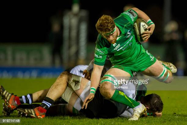 Sean O'Brien of Connacht in action with a ball during the Guinness PRO14 Round 15 match between Connacht Rugby and Zebre Rugby at the Sportsground in...