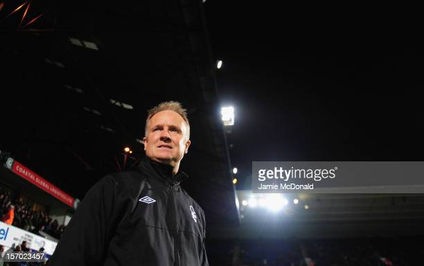 Sean O'Driscoll of Nottingham Forest looks on during the npower Championship match between Ipswich Town and Nottingham Forest at Portman Road on...