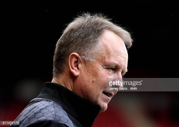 Sean O'Driscoll the head coach / manager of Walsall during the Sky Bet League One match between Walsall and Wigan Athletic at Bescot Stadium on...