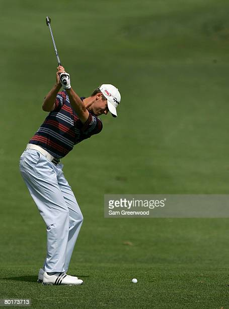 Sean O'Hair plays a shot on the first hole during the third round of the PODS Championship at Innisbrook Resort and Golf Club March 8, 2008 in Palm...