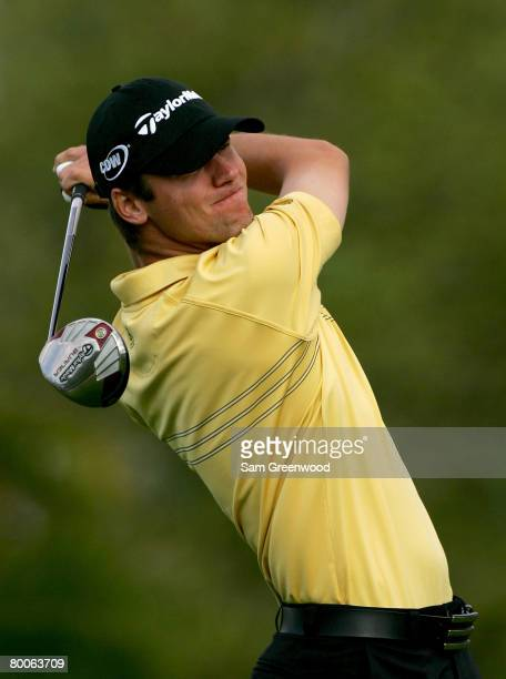 Sean O'Hair plays the 8th hole during the second round of the Honda Classic at PGA National Resort and Spa on February 29 2008 in Palm Beach Gardens...
