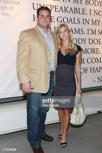 """Sean O'Hara and fiance Amy attend the book launch of """"Words That Free Us: Voices Of Recovery"""" at Theory Gansevoort Store on October 29, 2008 in New..."""