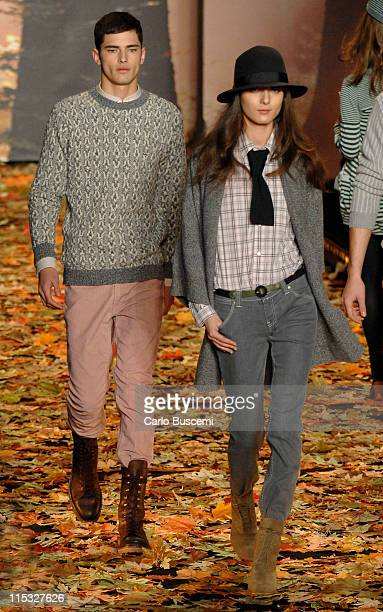 Sean Opry and Irina Lazareanu wearing Lacoste Fall 2007