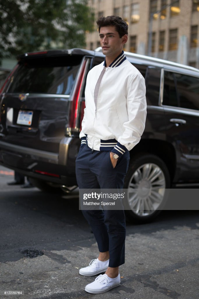 Street Style - NYFW: Men's July 2017 - Day 1 : News Photo