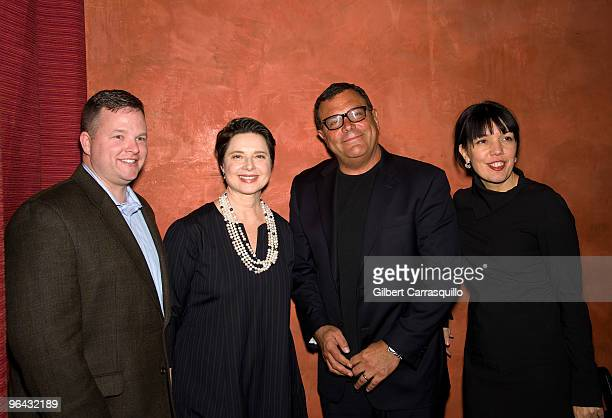 Sean O'Reilly General Manager of Chace Card Services Isabella Rossellini Stephen Starr owner of Starr Restaurants and Sara Barnett General Manager of...