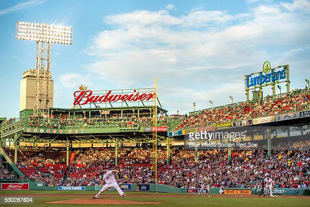 Sean O'Sullivan of the Boston Red Sox delivers during the first inning of a game against the Oakland Athletics on May 10 2016 at Fenway Park in...