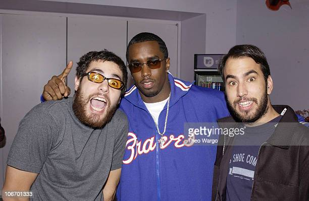 Sean 'P Diddy' Combs and Alien Ant Farm during Sean 'P Diddy' Combs Hosts MTV's 'TRL' with guest Alien Ant Farm April 3 2002 at MTV Studios in New...