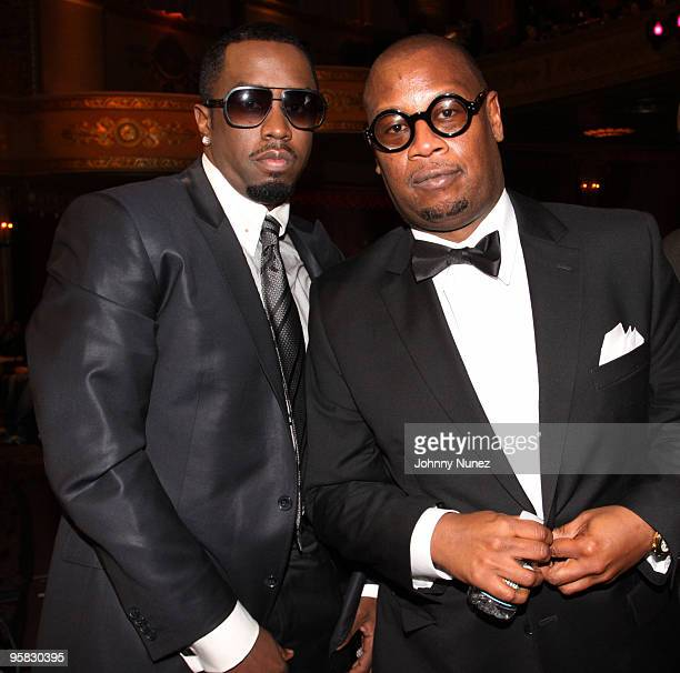 Sean P Diddy Combs and Andre Harrell attend the 3rd annual BET Honors at the Warner Theatre on January 16 2010 in Washington DC