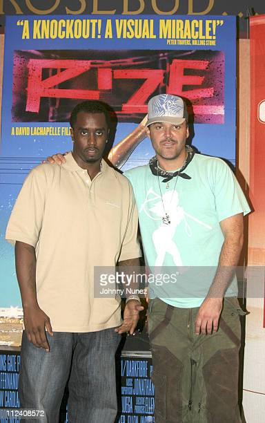 """Sean """"P. Diddy"""" Combs and David LaChapelle during 2005 Urban World Film Festival - """"Rize"""" Premiere at Lowes Theater in New York City, New York,..."""