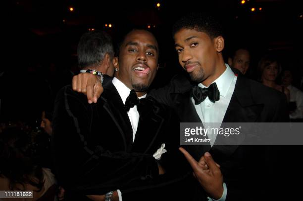 """Sean """"P. Diddy"""" Combs and Fonzworth Bentley during The 77th Annual Academy Awards - Governors Ball at Kodak Theatre in Los Angeles, California,..."""