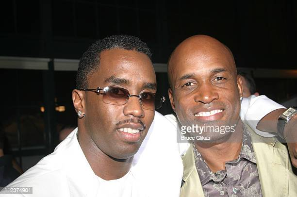 Sean 'P Diddy' Combs and Kenny Leon director during Opening Night of 'A Raisin In The Sun' on Broadway at The Royale Theater / Guastavino's in New...