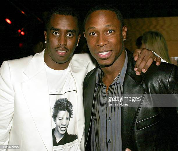 Sean P Diddy Combs and Kenny Lofton of the New York Yankees