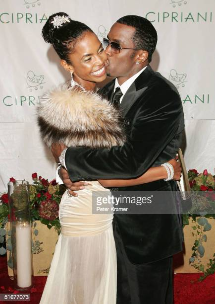 Sean P Diddy Combs and Kim Porter attend Sean P Diddy Combs 35th Birthday Celebration on November 4 2004 in New York City