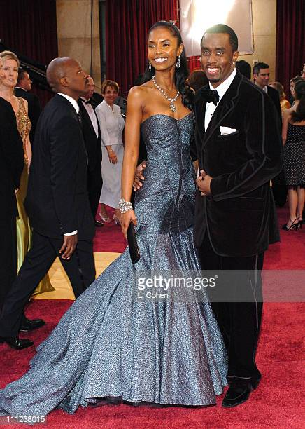 Sean 'P Diddy' Combs and Kim Porter during The 77th Annual Academy Awards Arrivals at Kodak Theatre in Hollywood California United States