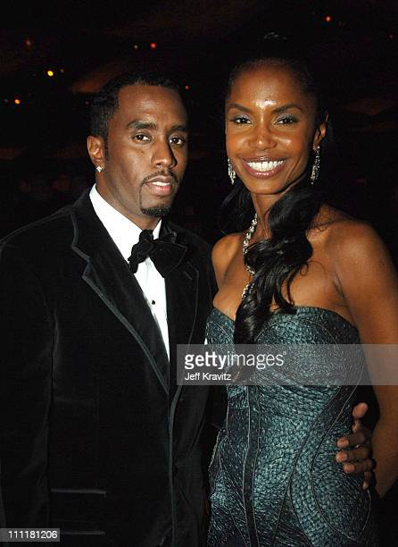 Sean P Diddy Combs and Kim Porter during The 77th Annual Academy Awards Governors Ball at Kodak Theatre in Los Angeles California United States