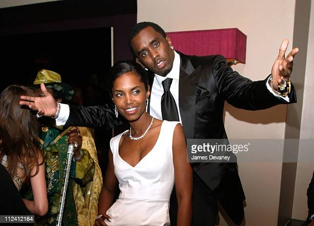 Sean 'P Diddy' Combs and Kim Porter during The Sean John Party at Lobby at Lobby in New York City New York United States