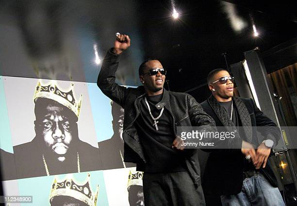 Sean P diddy Combs and Nelly during Notorious BIG Nasty Girl Part 2 Music Video Shoot Featuring Diddy Nelly and Jagged Edge November 17 2005 at 23rd...